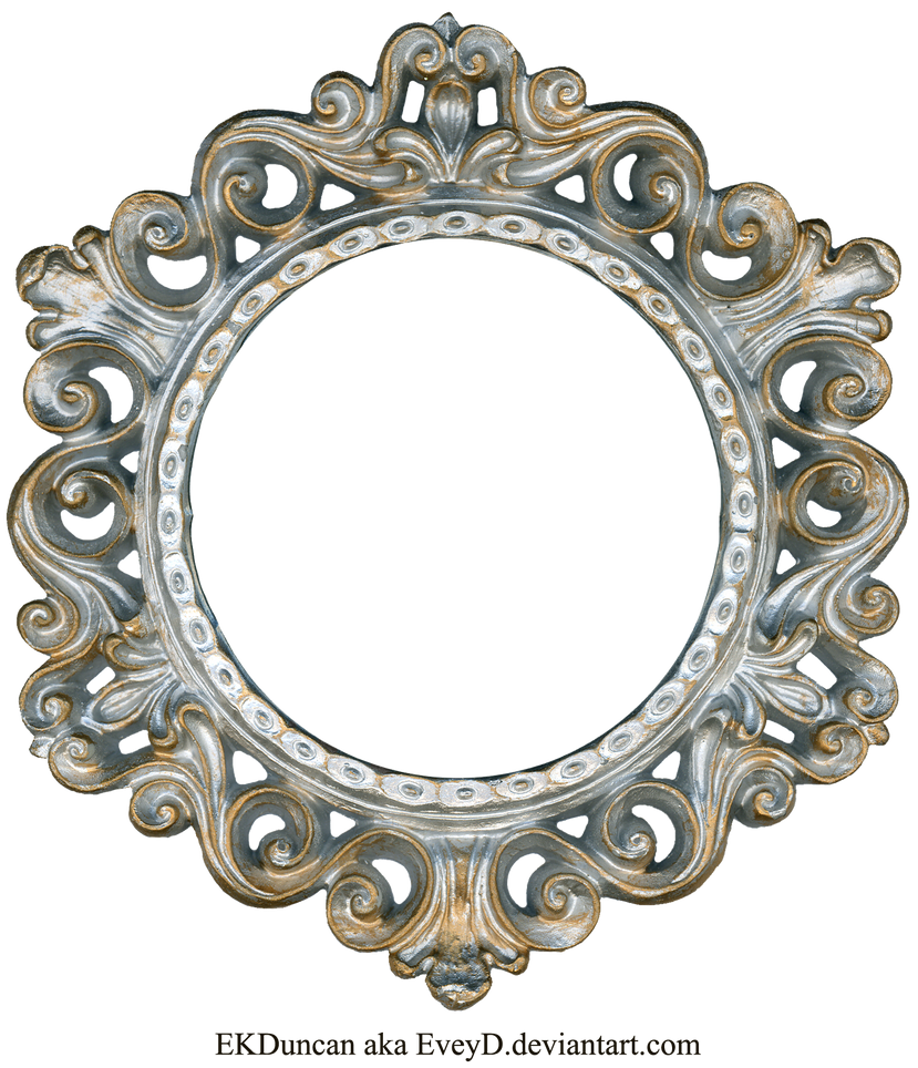 ornate silver and gold round frame by eveyd on deviantart