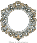 Ornate Silver and Gold - Round Frame