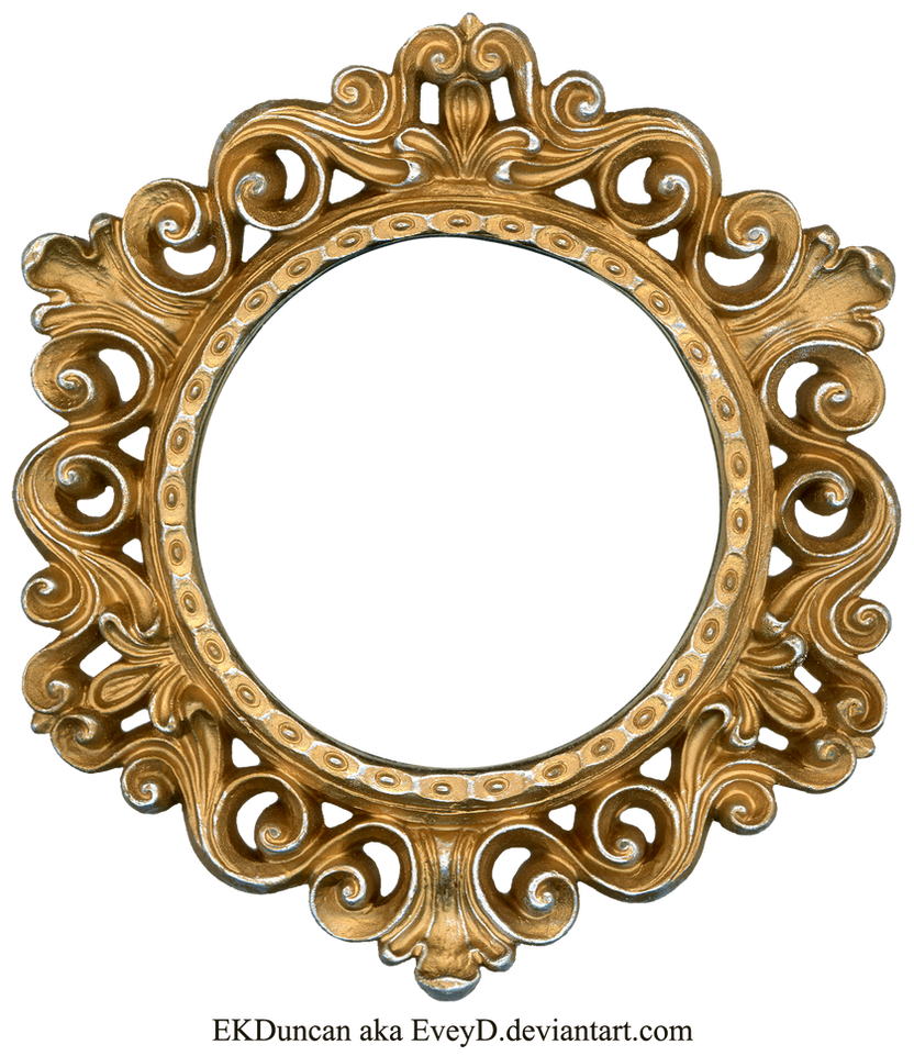 ornate gold and silver round frame by eveyd