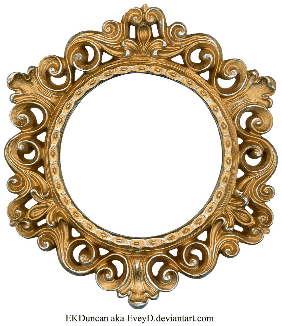 Ornate Gold and Silver - Round Frame by EveyDOrnate Gold Frame Vector