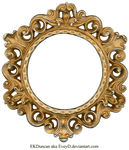 Ornate Gold and Silver - Round Frame