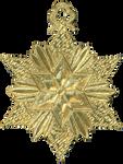 German Dresden Gold Paper Medallion Ornament 8