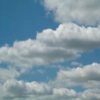 Carolina Blue Sky w Clouds Background Scrapbook 6