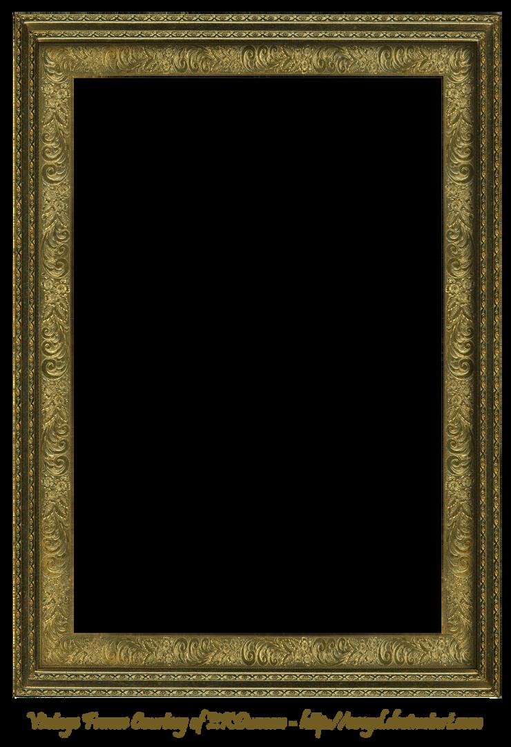 Antique Scroll Frame Rectangular Creation EKDuncan by EveyD on ...