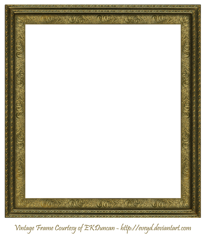 Antique Scroll Frame Square Creation EKDuncan by EveyD on ...