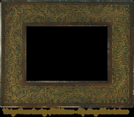Vintage Bronze Leaf Frame