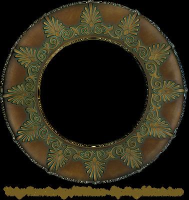 Vintage Bronze Round Patterned Frame