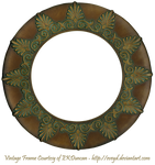 Vintage Bronze Round Patterned Frame