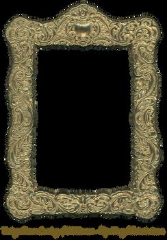 Floral Embossed Metal Frame Gold