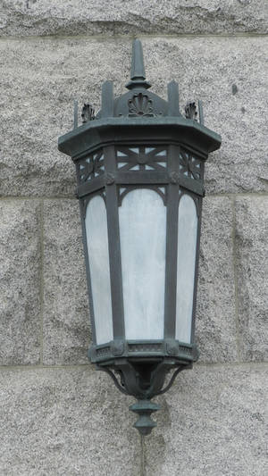 Vintage Light Fixture Glass and Metal Gothic