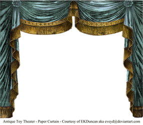 Paper Theater Curtain - Aqua