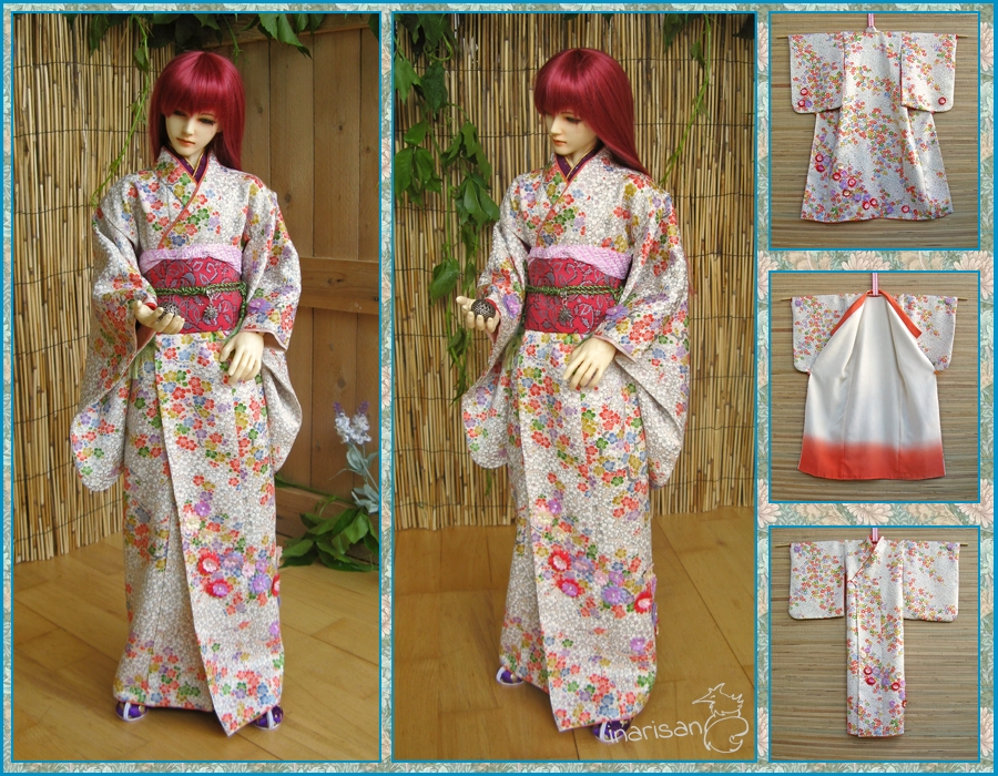 Bjd Kimono For 69 63cm Boy And Girl Dolls By Inarisanscrafts On