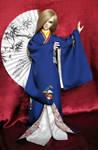 BJD Kimono, Haru-san in Royal Blue Kimono