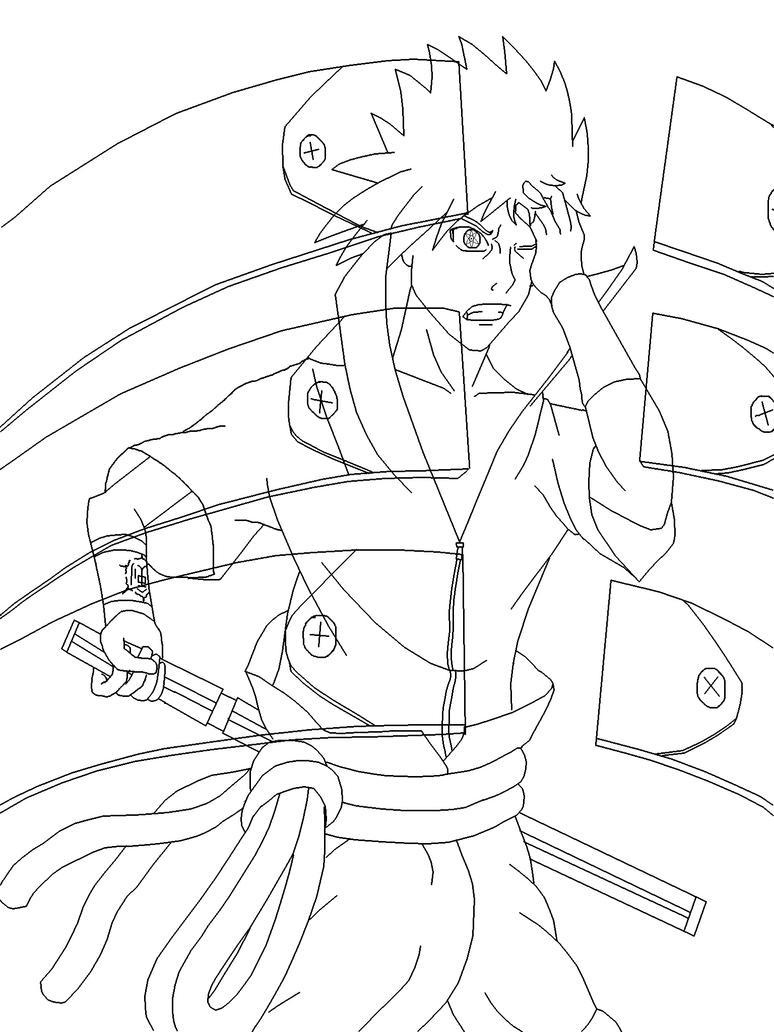 Sasuke Lineart : Sasuke uchiha lineart by saiyan z on deviantart