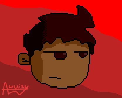 Auuizy face...pixel art by Auuizy