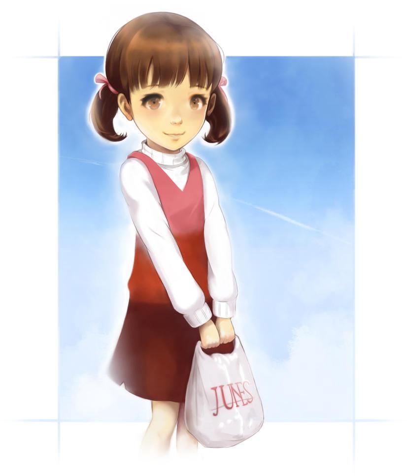 Persona 4: Nanako Dojima by staticwind