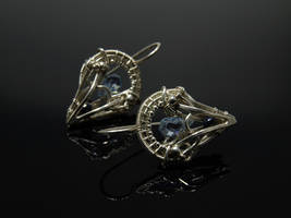 Blue Quartz Earrings 2 by FILIGRY
