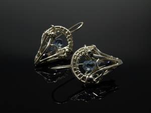Blue Quartz Earrings 2 by FILIGRY