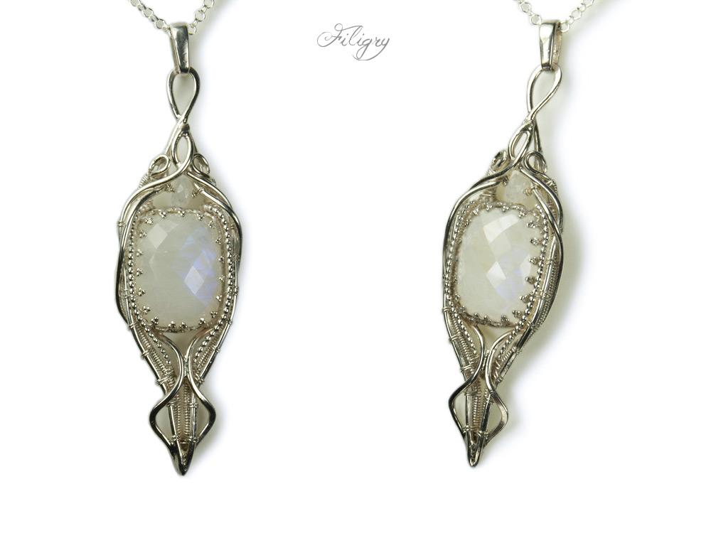 Fairytale - Moonstone Pendant by FILIGRY