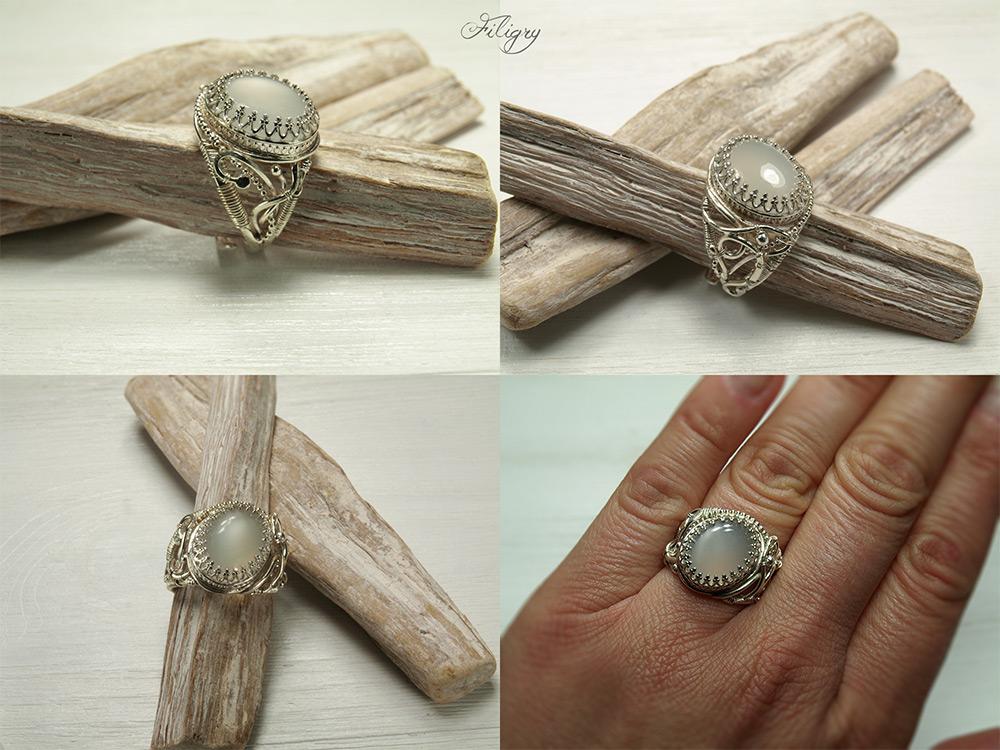Shiva - Moonstone Ring by FILIGRY