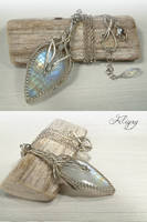 Genie - Rainbow Moonstone Necklace by FILIGRY