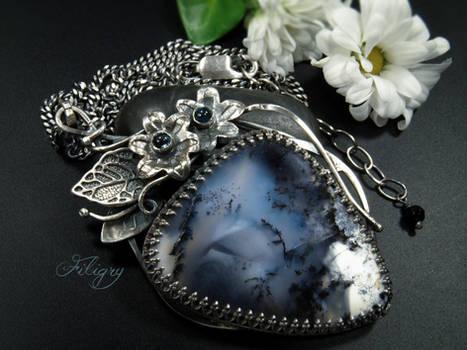 Gennara-Dendritic Opal Pendant