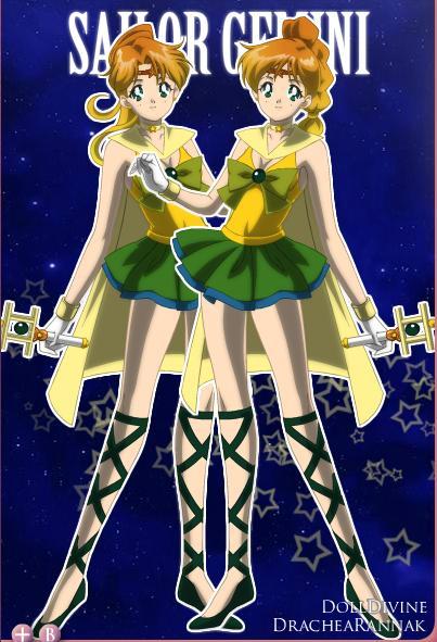 Anime Characters Gemini : Sailor zodiac gemini by dragonwitch on deviantart