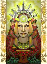 Priestess of Eleusis by Zingaia