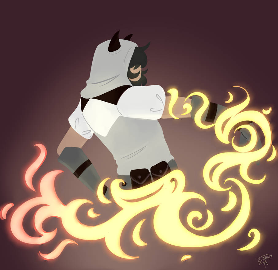local superhero practicing fire powers by WildfireIllustration on
