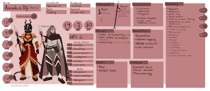 [DnD] Annakus character sheet
