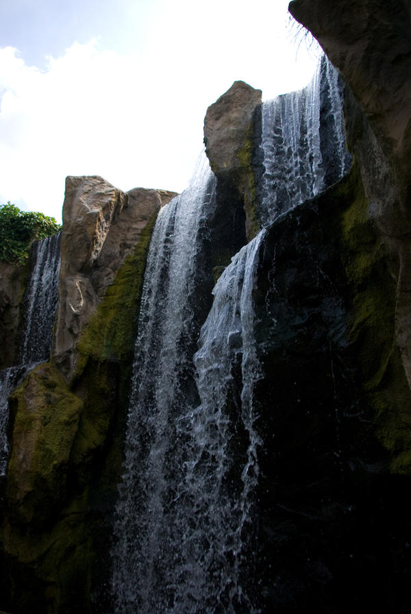 Waterfall close up 2 by steppelandstock