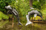 Dolphin statues