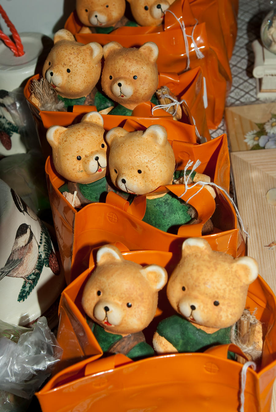 A train of little xmas bears by steppelandstock