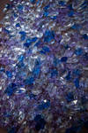 Collection cut glass crystals