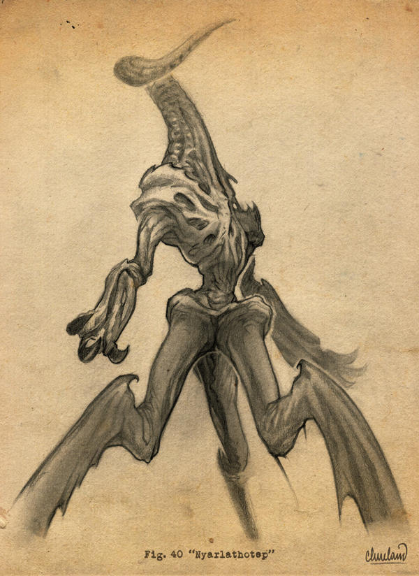 H.P. Lovecraft's Nyarlathotep by calebcleveland