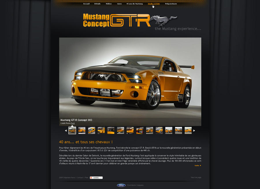 Mustang GT-R Concept webdesign
