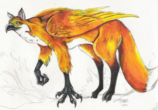Fox Griffin by DragonCid