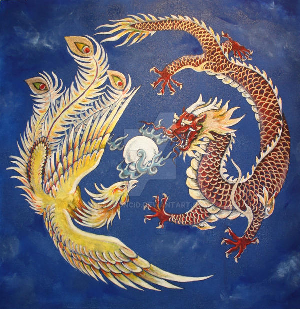 Star Wars, Yin and Yang, Philosophy, and Mythology Dragon_and_phoenix_by_dragoncid-d15i5wy
