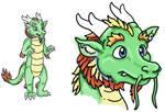 Asian dragon fursuit drawing