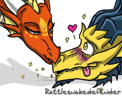 Kindle Kiss by DragonCid