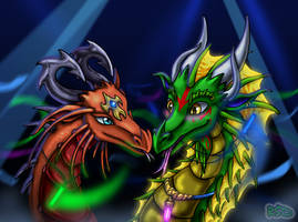 Dolus and Sulthia's Rave by DragonCid