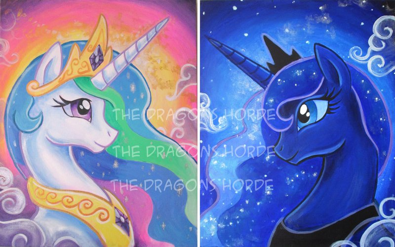 Princess Celestia And Luna By Dragoncid On Deviantart
