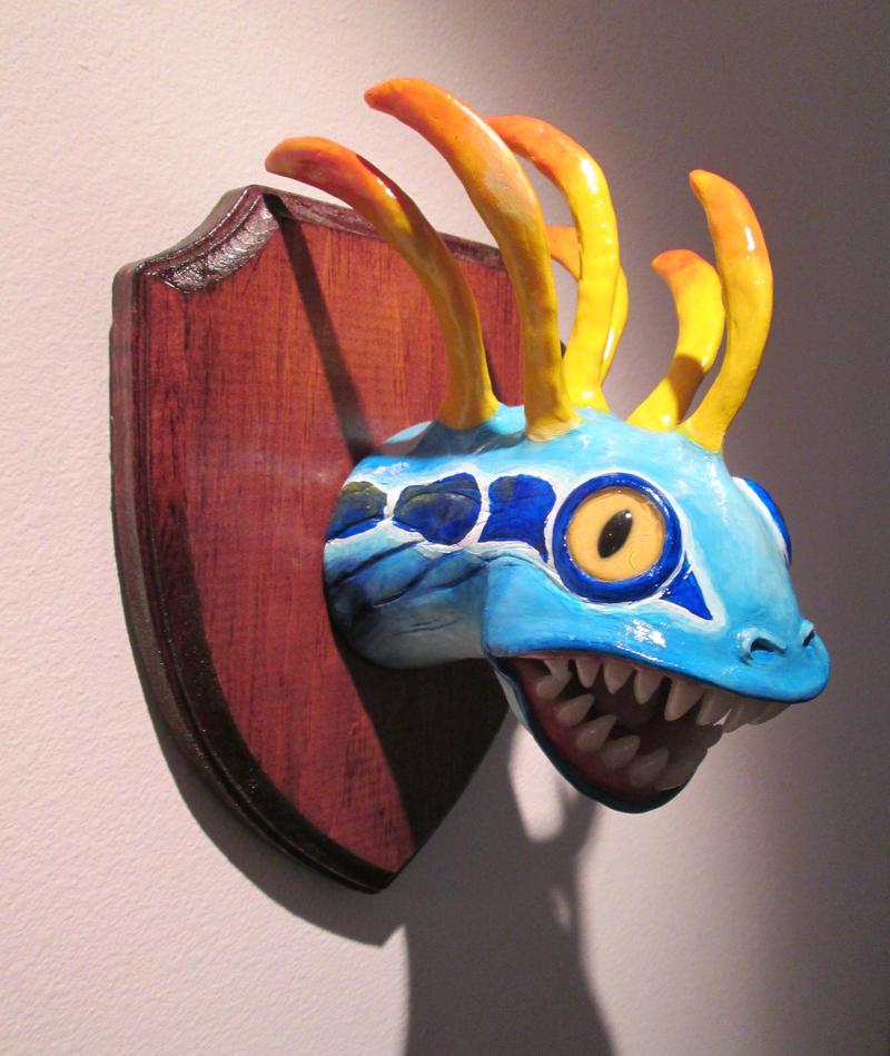 Taxidermied Murloc Head by DragonCid