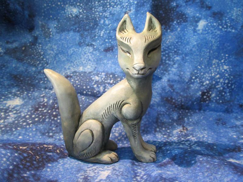 Kitsune Statue by DragonCid