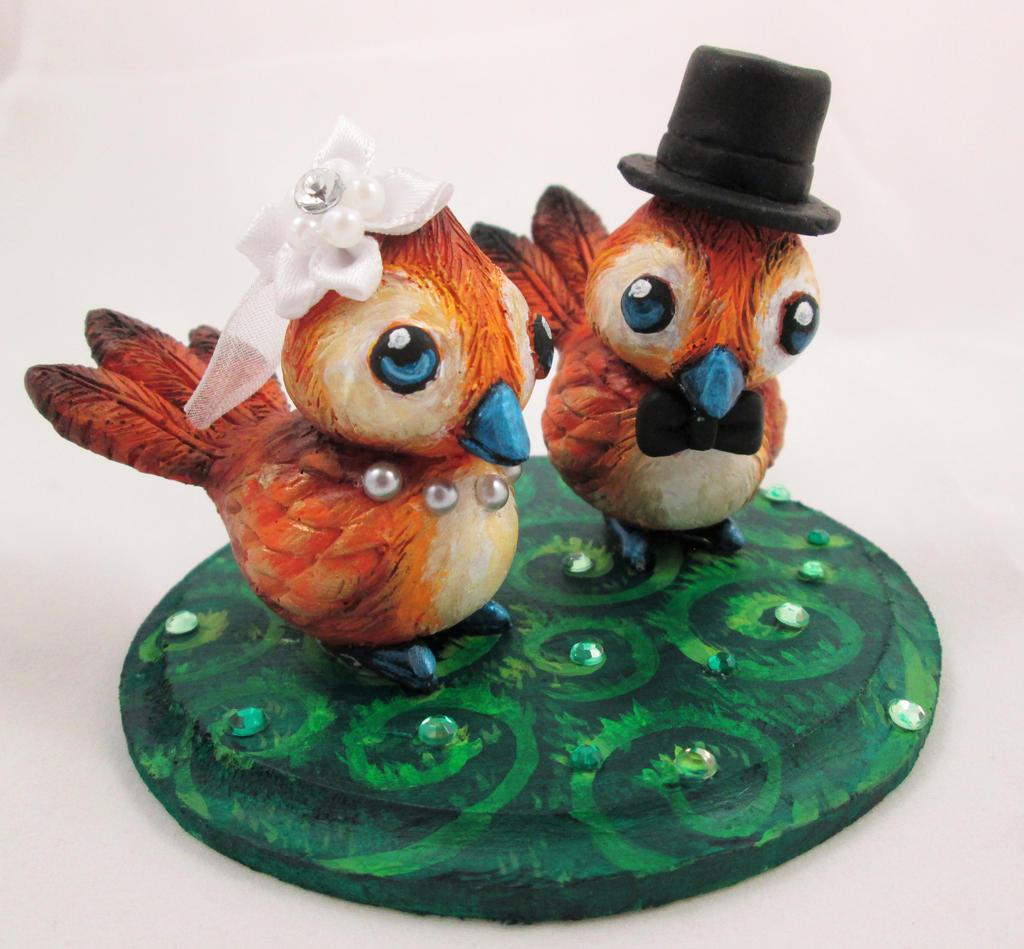 Pepe Love Birds Wedding Cake Topper By DragonCid