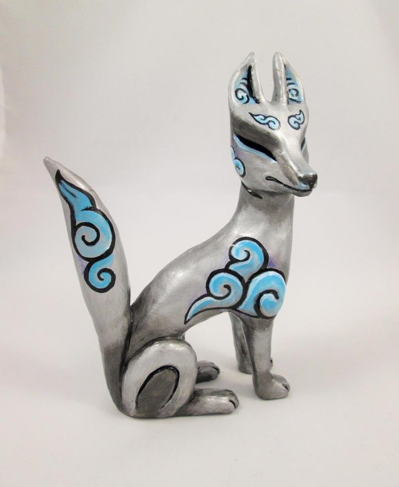 Silver Cloud Spirit Fox by DragonCid