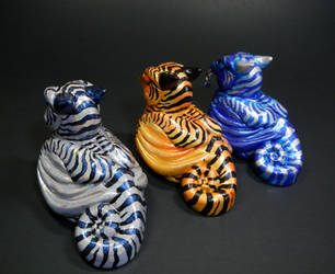 Tiger Stripe Dragons by DragonCid