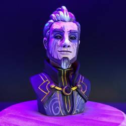 Lord Viren Dark Mage by DragonCid