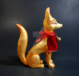 Golden Kitsune Statue