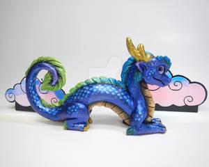 Blue Green Luck Dragon